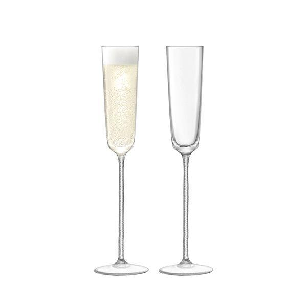 LSA Champagne Theatre Clear Braid Flute 120ml (Set of 2)