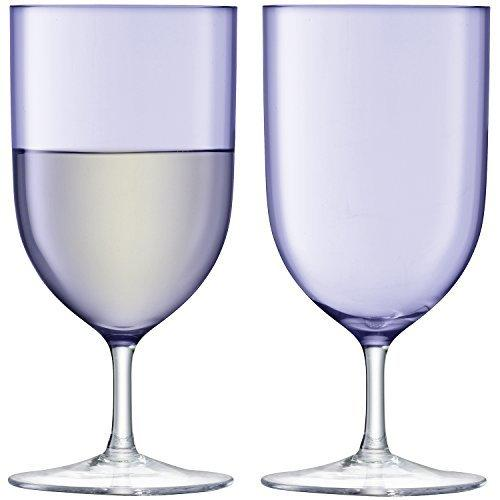 LSA Hint Pale Violet Wine/Water Glass 0.40L (Set of 2)