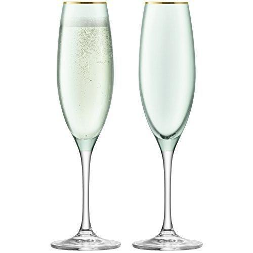 LSA Sorbet Melon Champagne Flute 225ml (Set of 2)