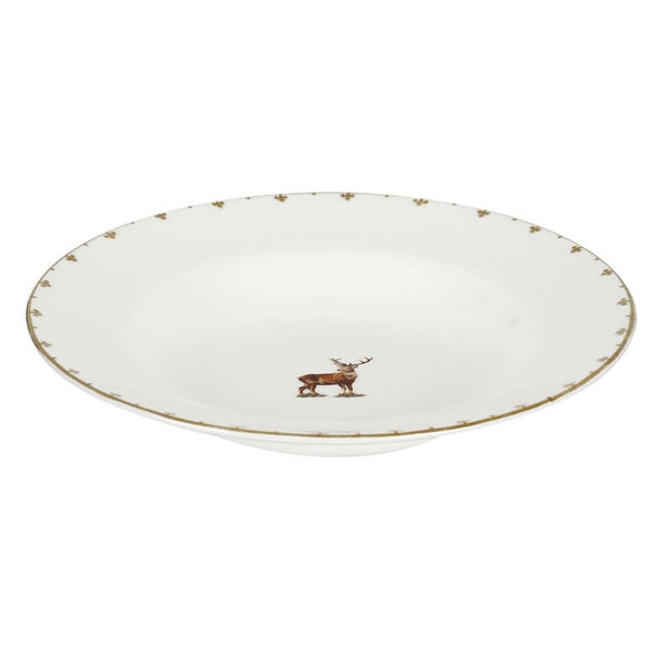 Spode Glen Lodge Stag Soup Plate 23cm (Set of 4)