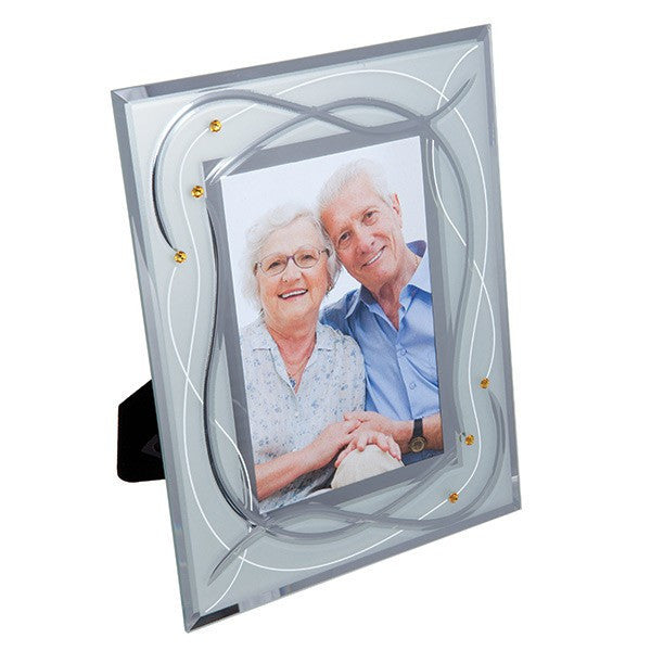 Dartington Crystal Celebrate Golden Wedding Photo Frame