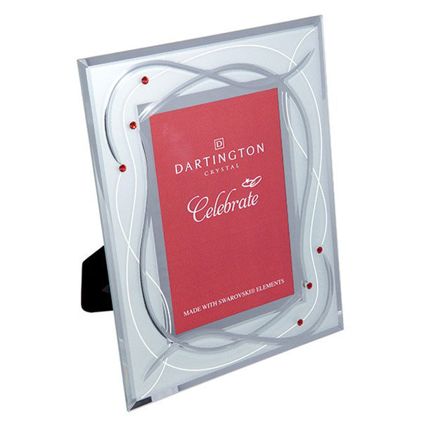 Dartington Crystal Celebrate Ruby Wedding Photo Frame