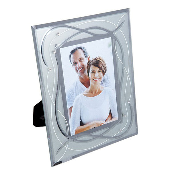Dartington Crystal Celebrate Silver Wedding Photo Frame