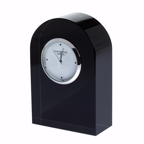 Dartington Crystal Black Small Curve Clock