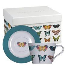 Churchill China Harlequin Paplio Butterfly Teacup And Saucer