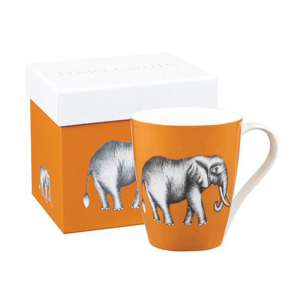 Churchill China Harlequin Savanna Elephant Amber Mug 0.42L