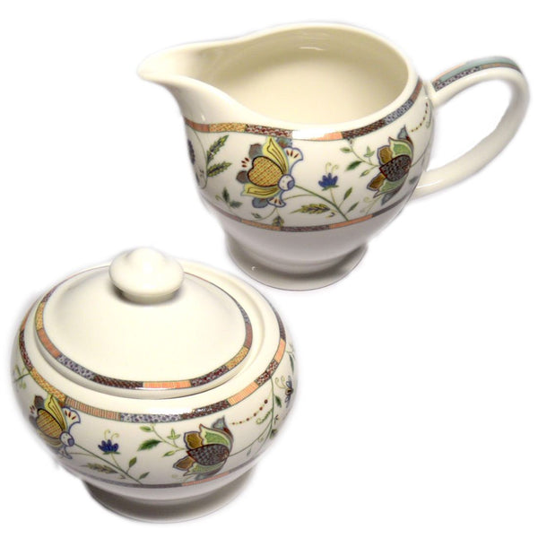 Churchill China Hidden World Indian Silk Sugar And Creamer Set