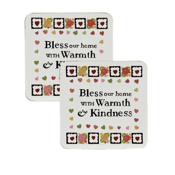 Churchill China Julie Dodsworth Warmth and Kindness 4 Coasters 10cm