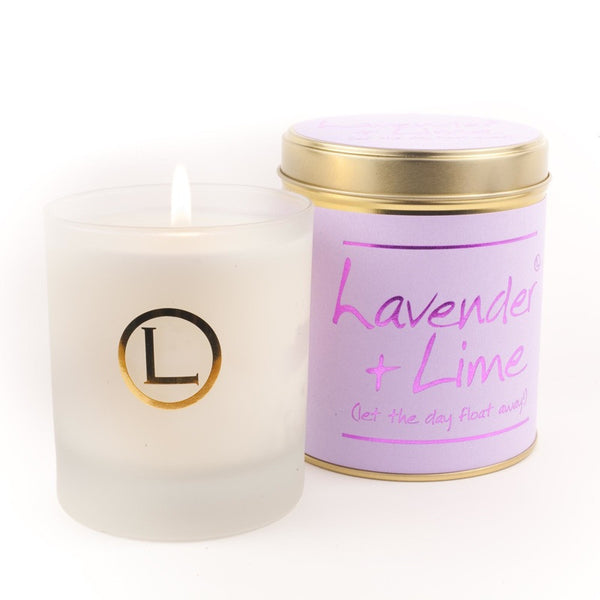 Lily Flame Lavender and Lime Glassware Candle