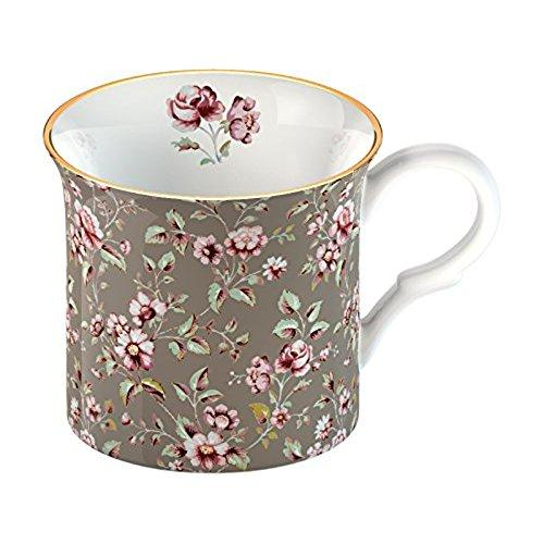 Katie Alice Ditsy Floral Fine Bone China Grey Floral Palace Mug