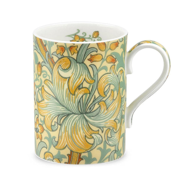 Royal Worcester Morris and Co Golden Lily Slate and Manilla Mug 0.35L