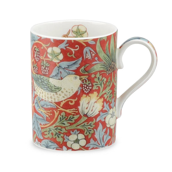 Royal Worcester Morris and Co Strawberry Thief Crimson and Slate Mug 0.35L