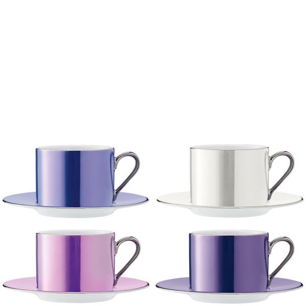 LSA Polka Pastel Teacup and Saucer 0.25L (Set of 4)