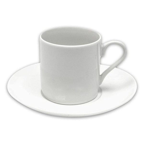 Maxwell and Williams White Basics Straight Coffee Cup and Saucer 100ml
