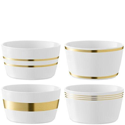 LSA Deco Gold Small Bowl 13cm (Assorted Set of 4)