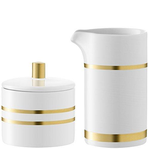 LSA Deco Gold Creamer and Sugar Bowl Set