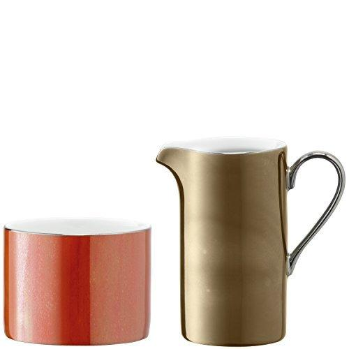 LSA Polka Metallics Creamer and Sugar Bowl Set 0.25L/9cm