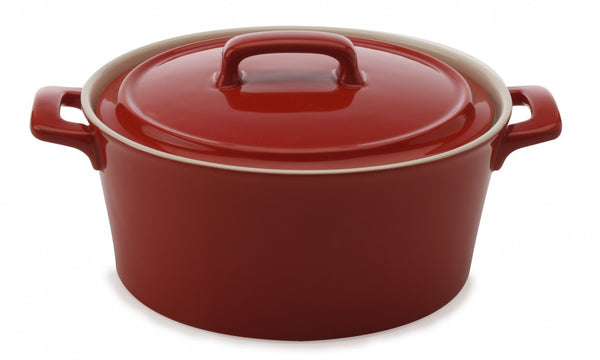 Maxwell and Williams Chef du Monde Red Round Casserole Dish 2.6L