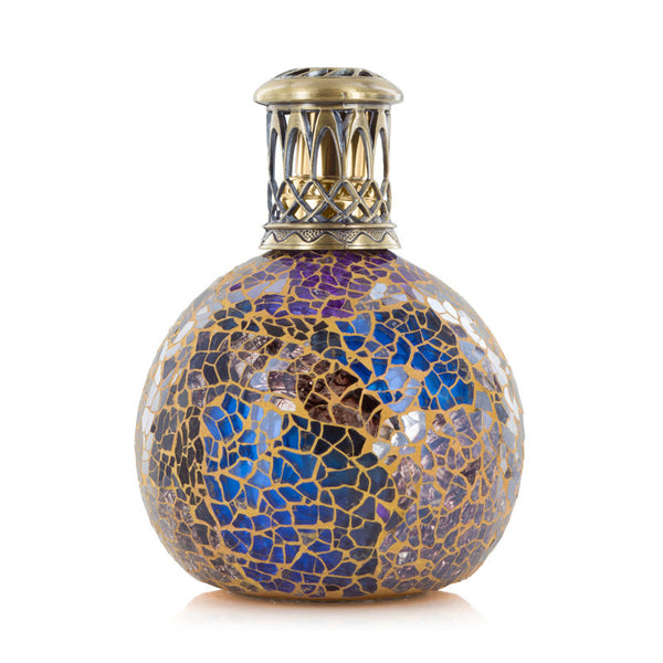 Ashleigh and Burwood Metallion Copper Blue Small Mosaic Fragrance Lamp