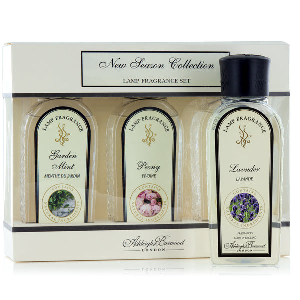 Ashleigh and Burwood Peony, Garden Mint and Lavender Lamp Fragrance Set