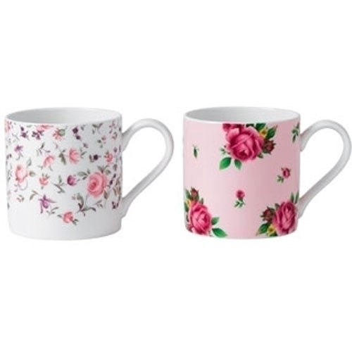 Royal Albert Teaware Set of 2 Rose Confetti Mugs