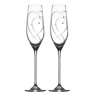 Royal Doulton Two Hearts Entwined Toasting Flute 0.16L (Pair)