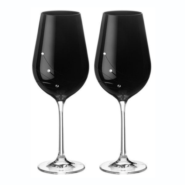 Dartington Crystal Noir Wine Goblet 0.52L (Pair)