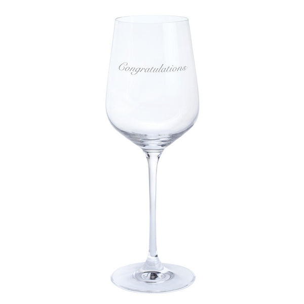 Dartington Crystal Just For You Congratulations Wine Glass 0.45L (Single)