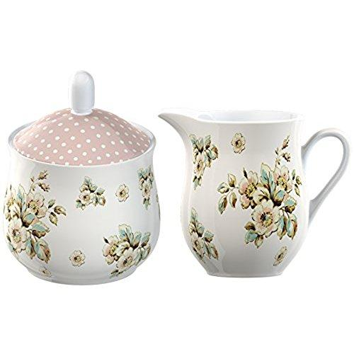 Katie Alice Cottage Flower Fine China Sugar and Creamer