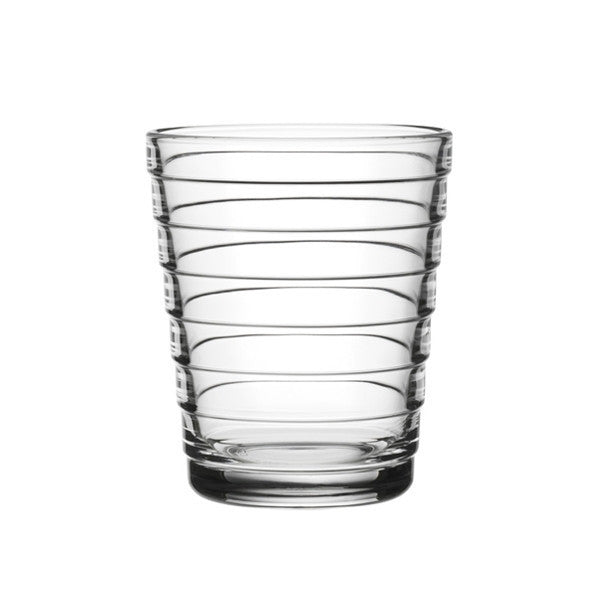 Iittala Aino Aalto Clear Small Glass Tumbler 0.22L (Pair)