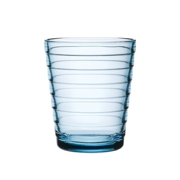 Iittala Aino Aalto Light Blue Small Glass Tumbler Pair 22cl