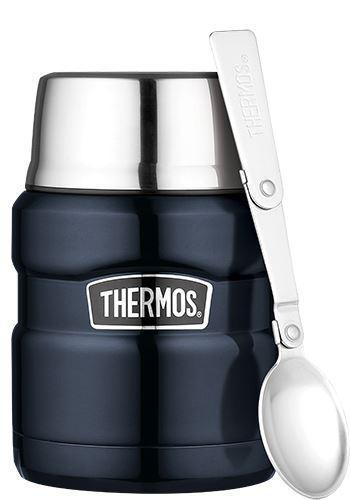 Thermos Stainless King Blue Food Flask 0.47L