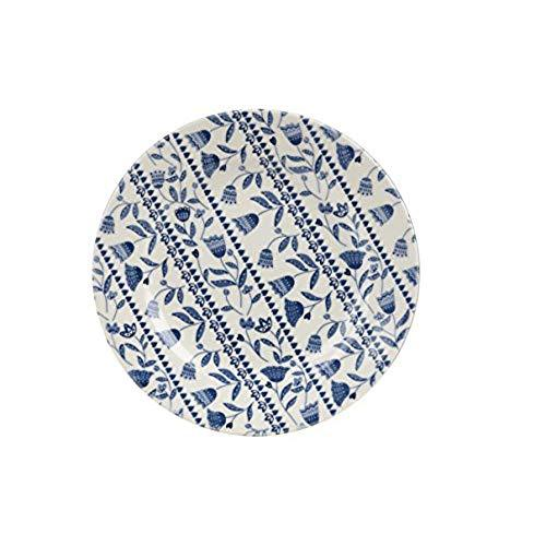 Churchill China Tilly Blue Open Rows Salad Plate 20cm