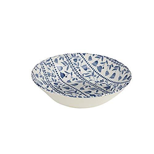 Churchill China Tilly Blue Open Rows Oatmeal Bowl 15cm