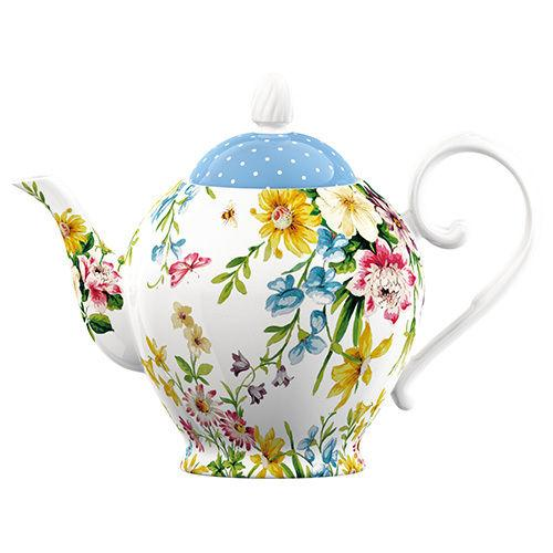 Katie Alice English Garden Porcelain 6 Cup Teapot