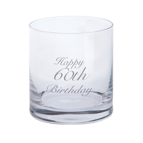 Dartington Crystal Just For You Happy 60th Birthday Tumbler 0.28L (Single)