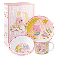 Churchill China Twinkle Twinkle 3 Piece Pink Melamine Gift Set