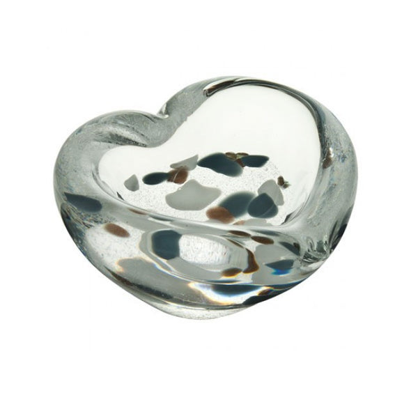 Caithness Glass Mini Heart Silver Paperweight