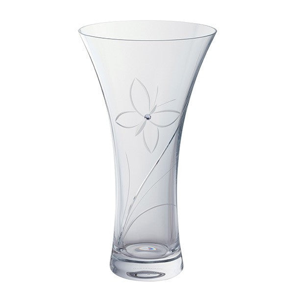 Dartington Crystal Glitz Large Buterfly Vase