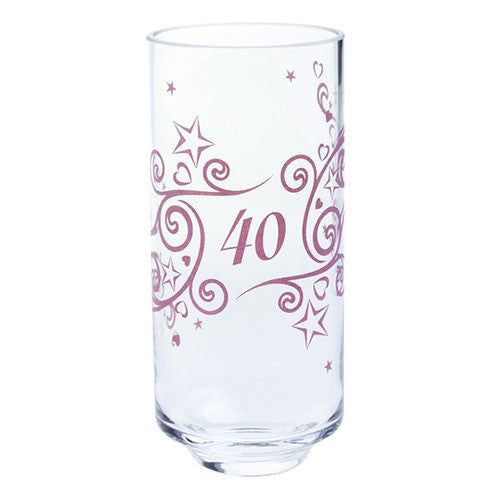 Dartington Crystal  Celebrate 40 Years Vase 19cm