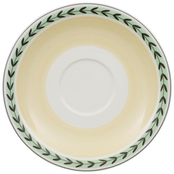 Charm and Breakfast French Garden White Coffee Saucer 20cm (Saucer Only) [C]