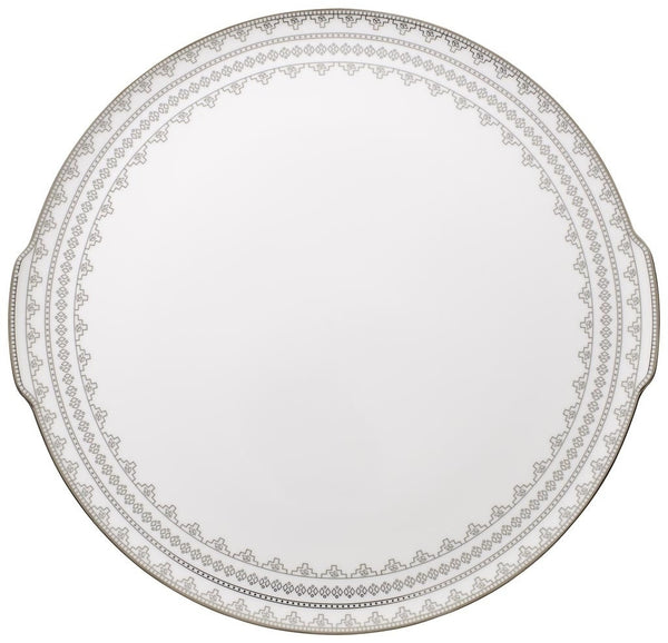 Villeroy and Boch White Lace Cake Plate 34cm