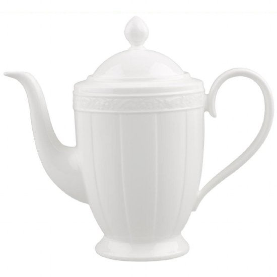 Villeroy and Boch White Pearl Coffeepot 1.35L