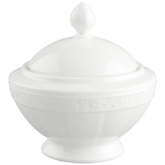 Villeroy and Boch White Pearl Sugar Bowl 0.35L