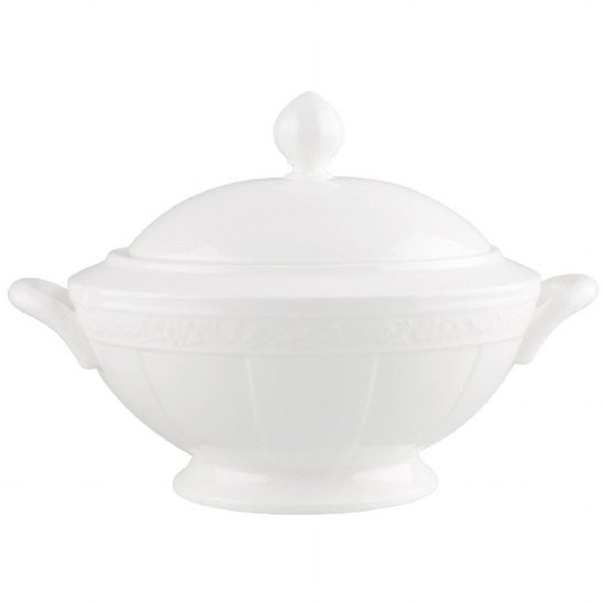 Villeroy and Boch White Pearl Round Soup Tureen 2.80L