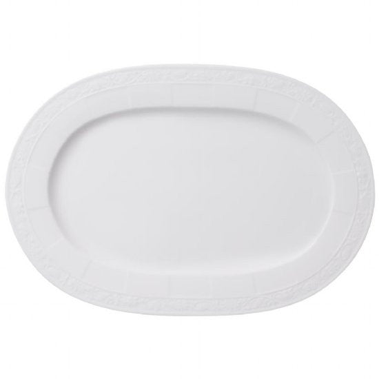 Villeroy and Boch White Pearl Oval Platter 35cm