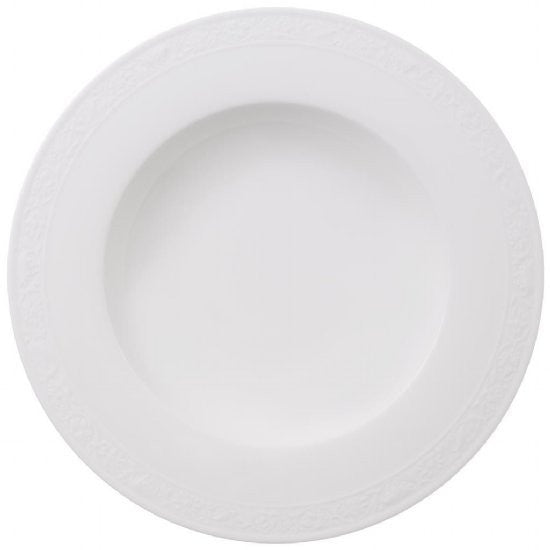 Villeroy and Boch White Pearl Deep Plate 24cm