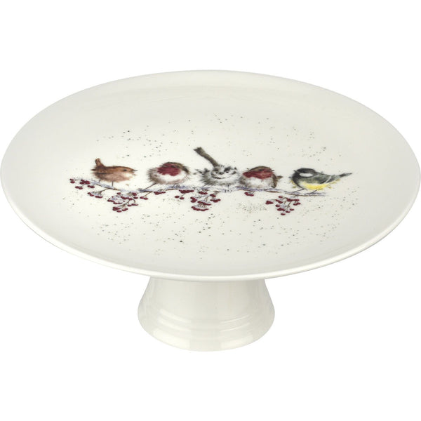 Royal Worcester One Snowy Day Footed Cake Plate 25cm