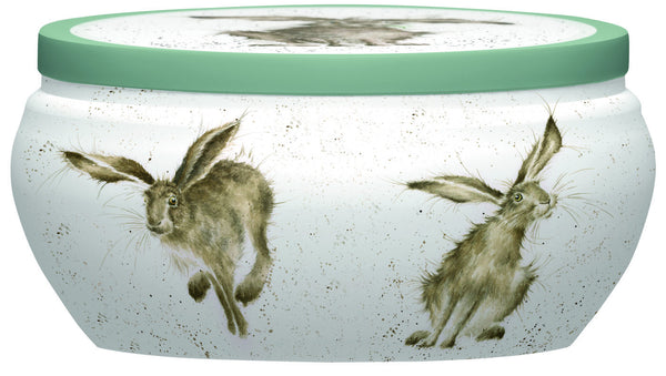Royal Worcester Wrendale Fragrance Warm and Whimsical Good Hare Day Tin Candle