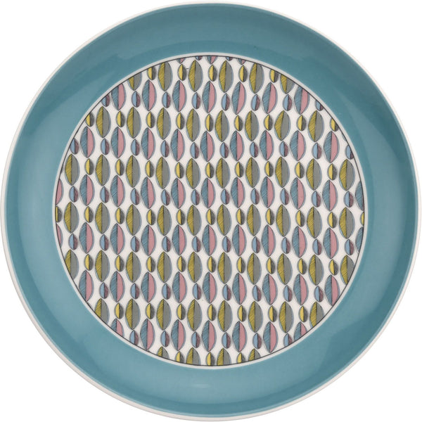 "Portmeirion Westerly Turquoise Coupe Plate 8.5""/ 22.5cm"